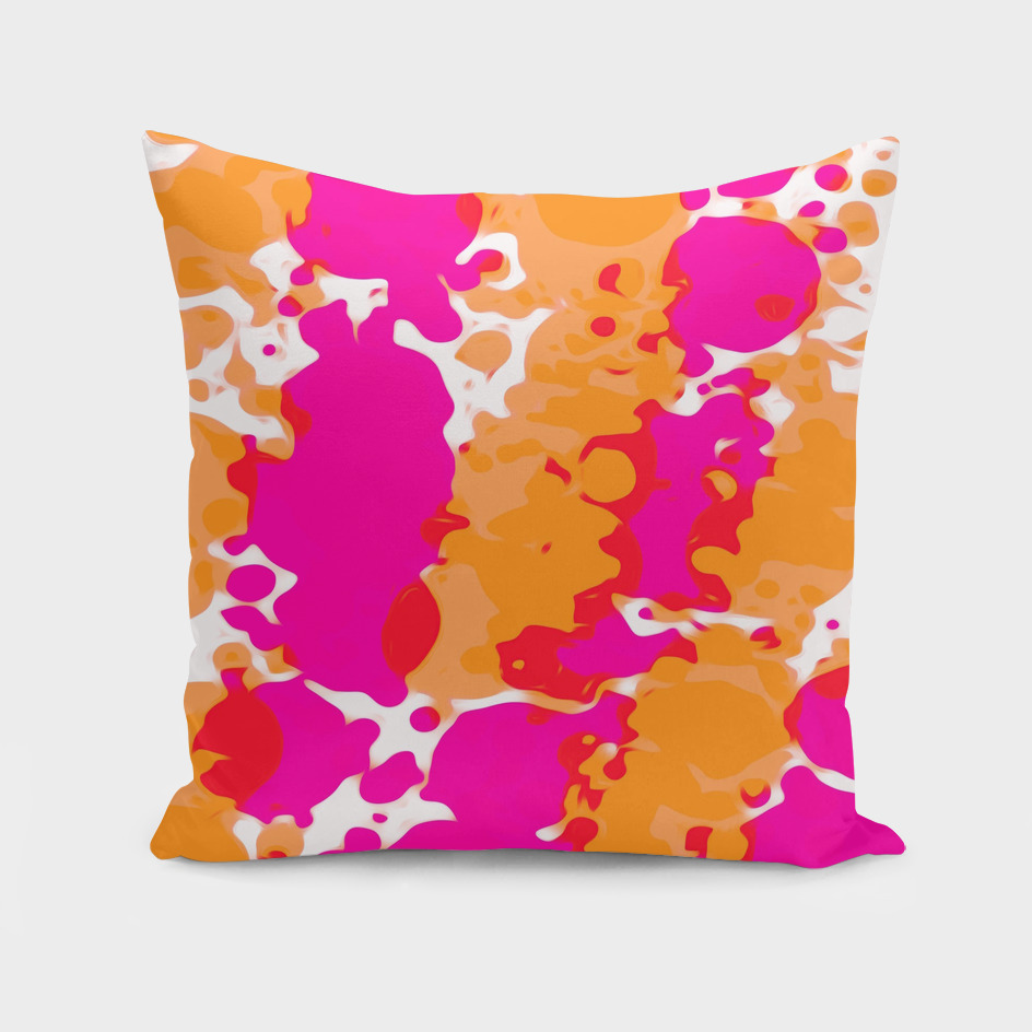 pink and orange splash color painting abstract background