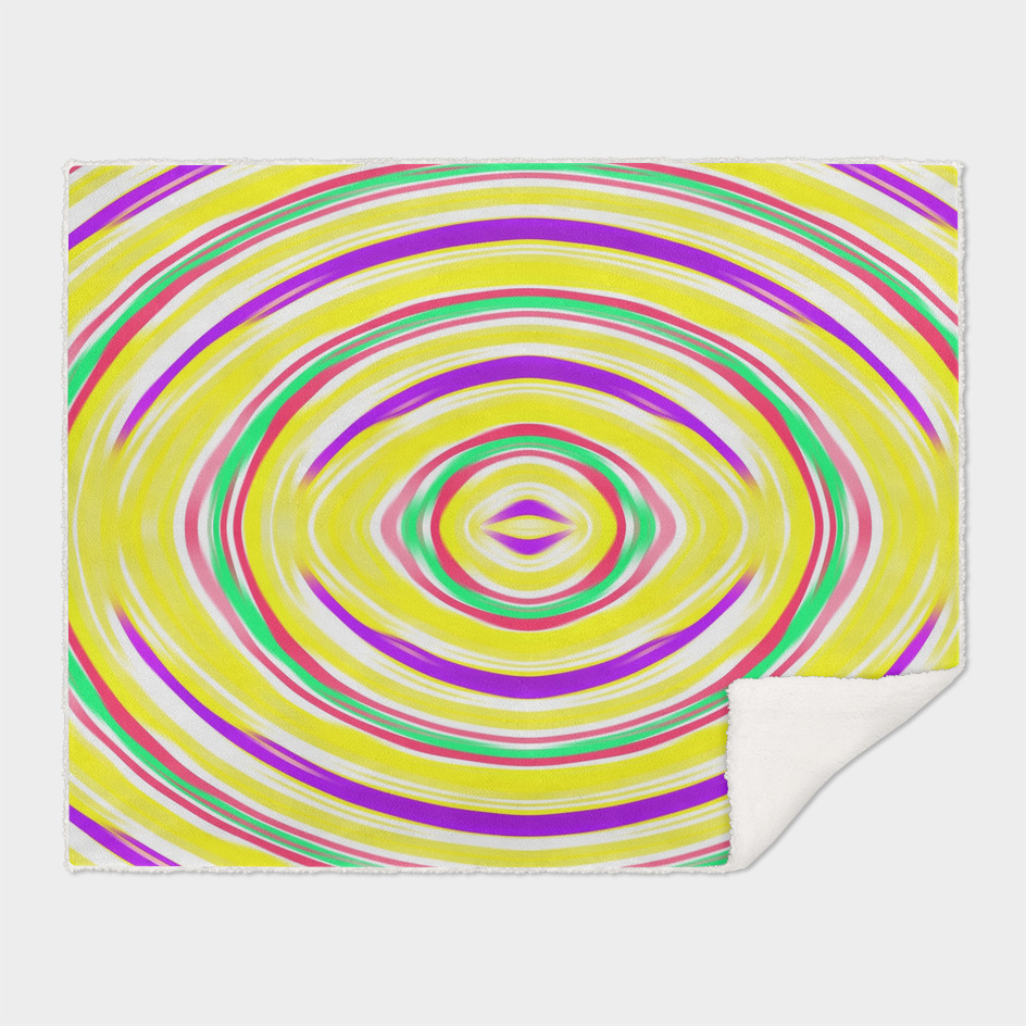 yellow purple green pink circle line drawing abstract