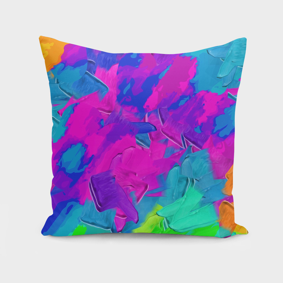 pink orange blue green painting texture abstract background