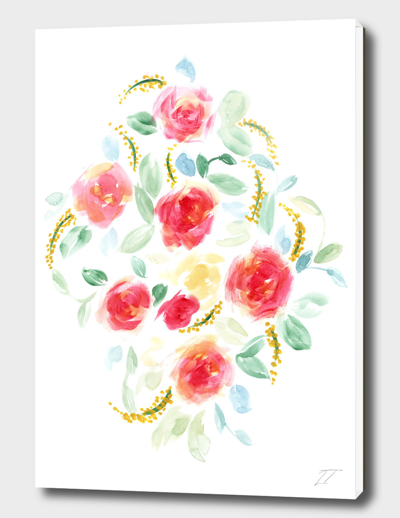 Diamond Floral Print