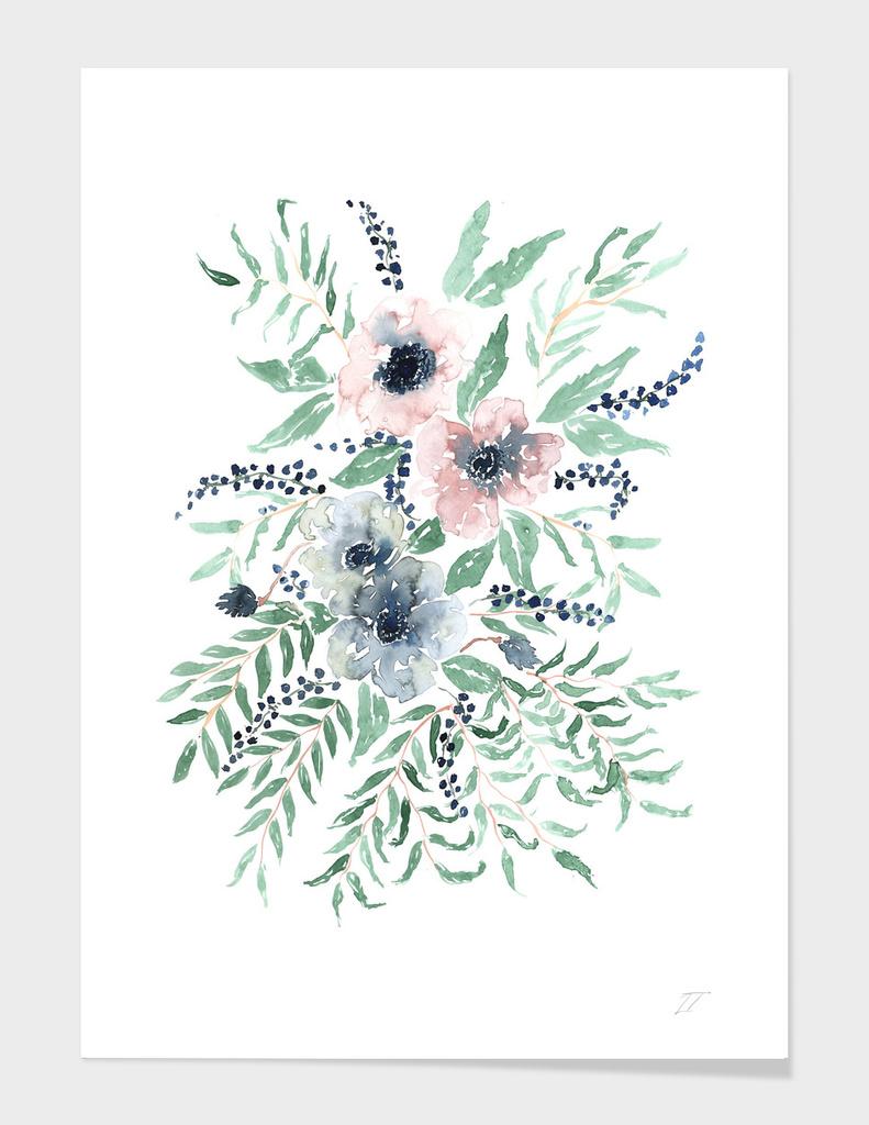 Anemone Watercolour Print