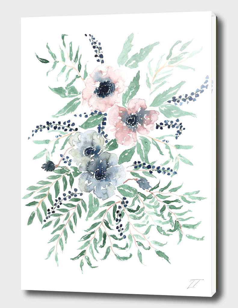 Anemone Watercolour Print