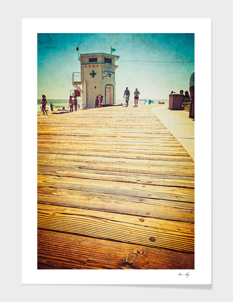 Laguna Beach - Boardwalk & Lifeguard Tower