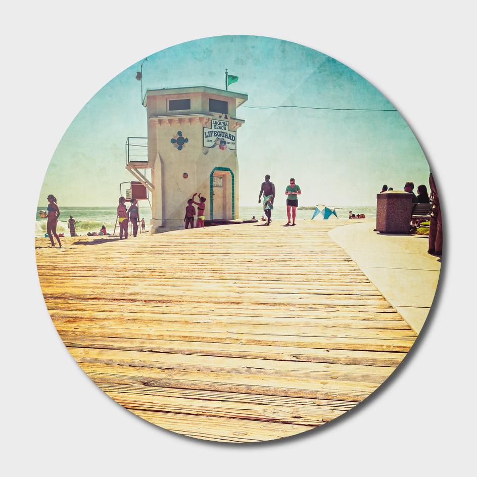 Laguna Beach - Boardwalk & Lifeguard Tower