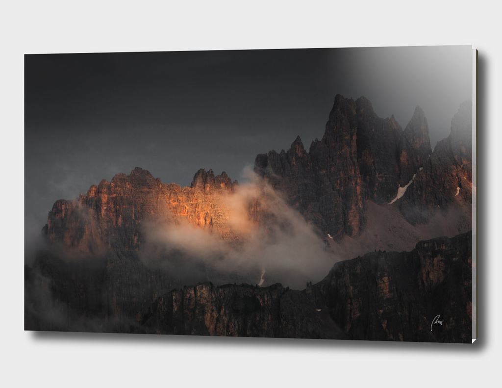 Dolomites Rising Fog
