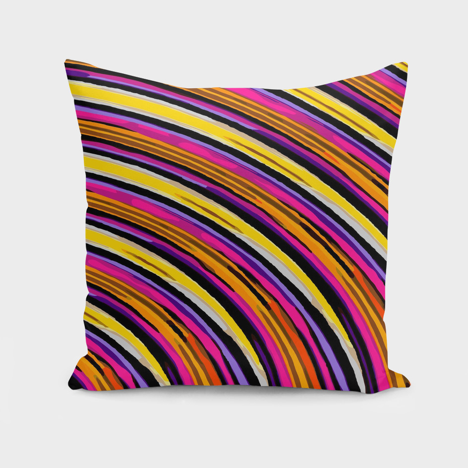 pink purple brown yellow orange circle line pattern