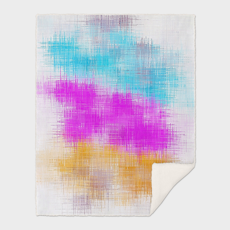 pink blue and orange painting abstract with white background