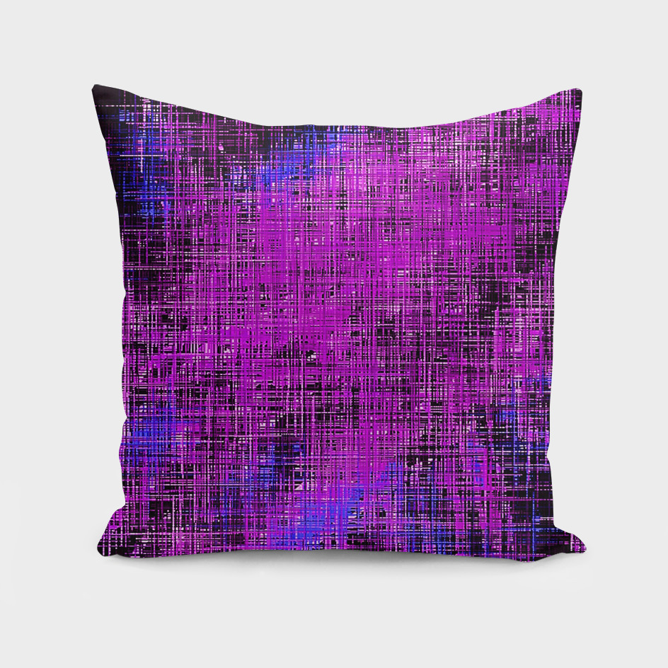 pink blue and purple painting with black background