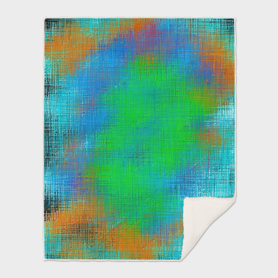 green blue and orange painting abstract