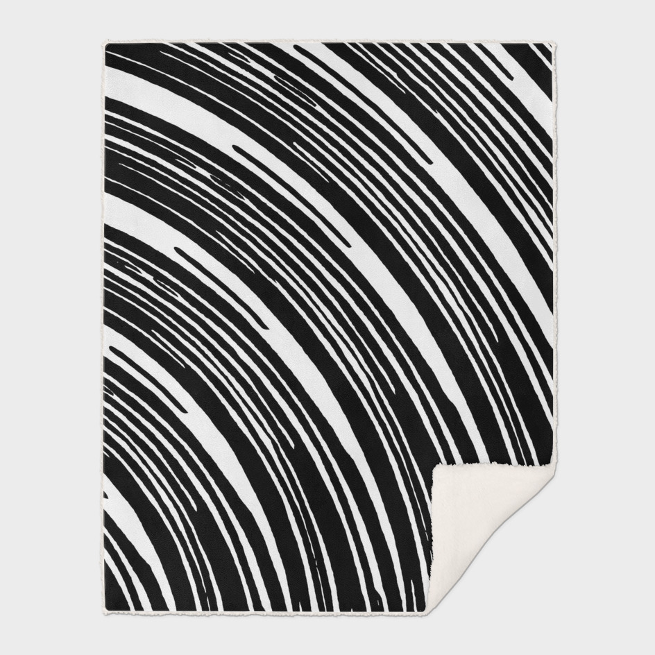 black and white curly line pattern abstract background