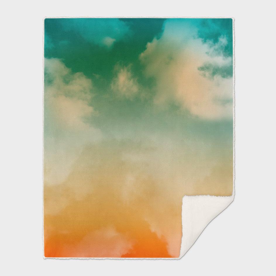 """Turquoise Moth & Marguerites (Heaven Background)"""