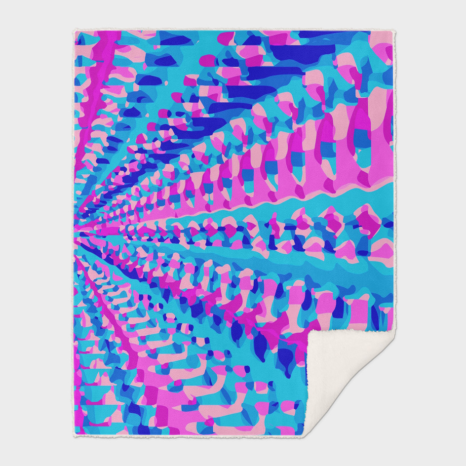 geometric pattern graffiti abstract in blue and pink