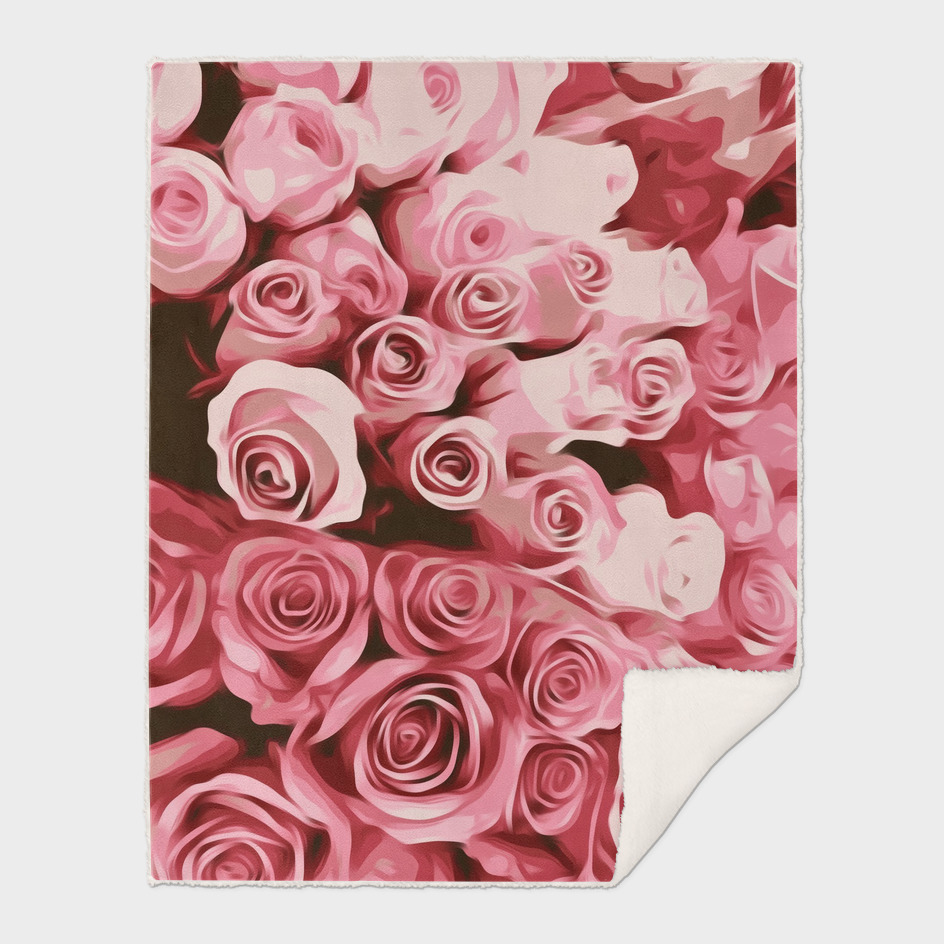 fresh pink roses texture background