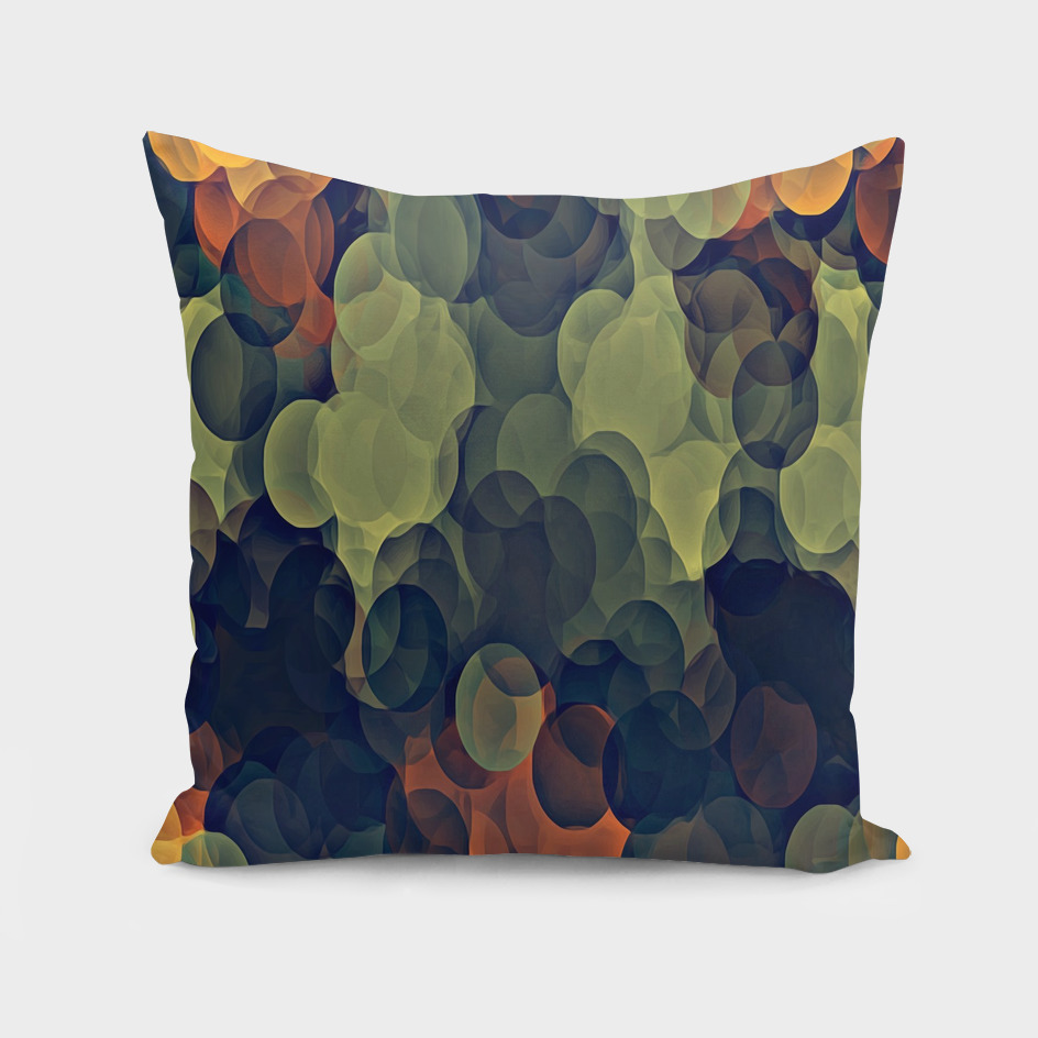 yellow green and brown circle pattern abstract