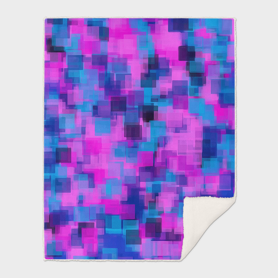 pink purple and blue square pattern