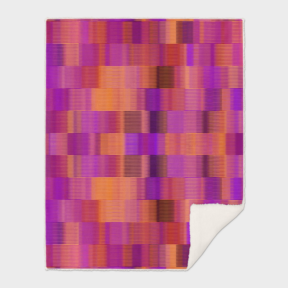 orange pink and purple plaid pattern abstract