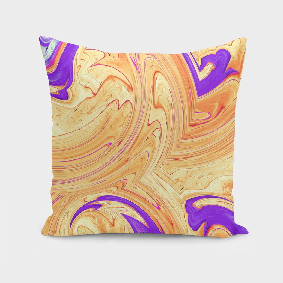 orange and purple spiral painting abstract background