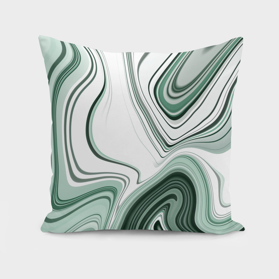 Bold Green Agate Stone Effect Design