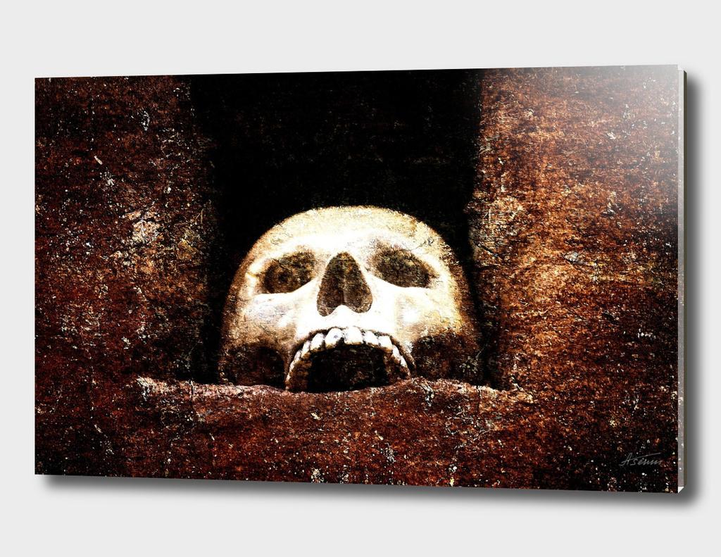 Skull In A Barbaric Shrine