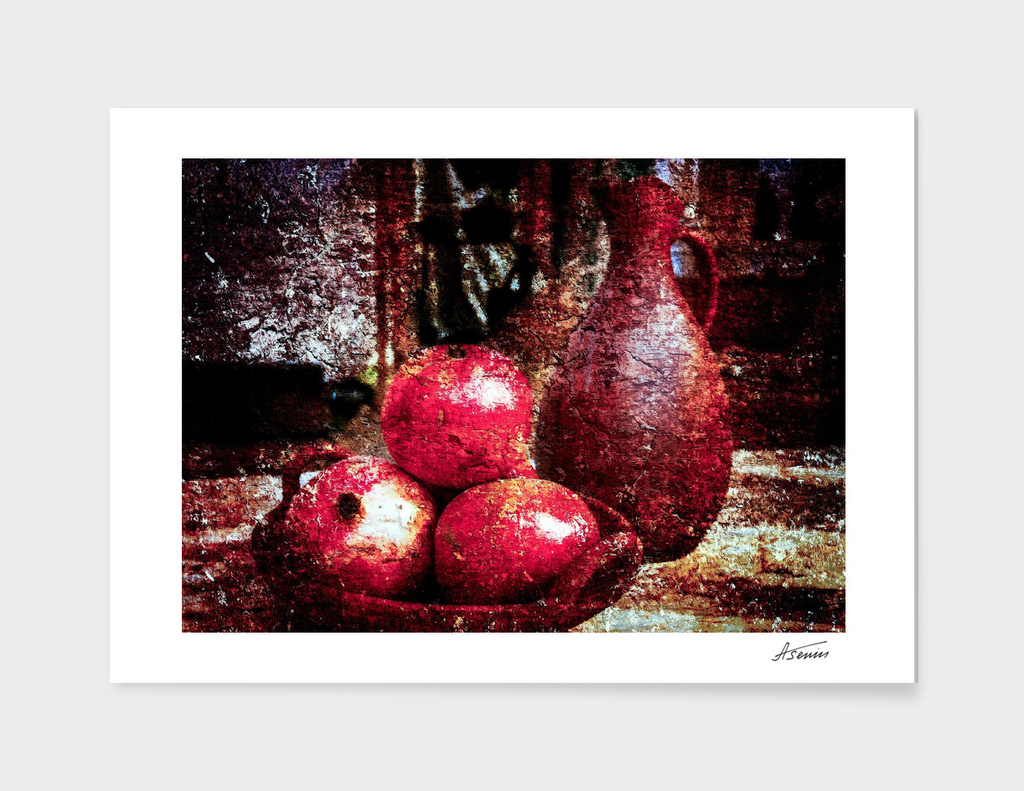 Pomegranates And A Jar