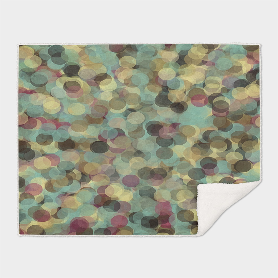 psychedelic circle pattern abstract in pink yellow brown