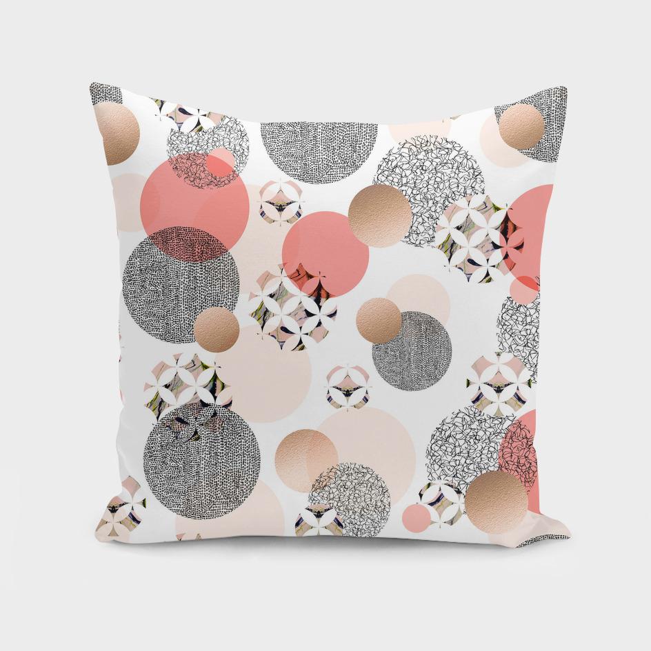 Pattern mosaic and abstract shapes