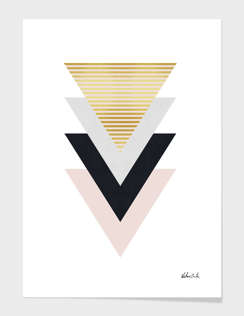 Geometric and golden art IV