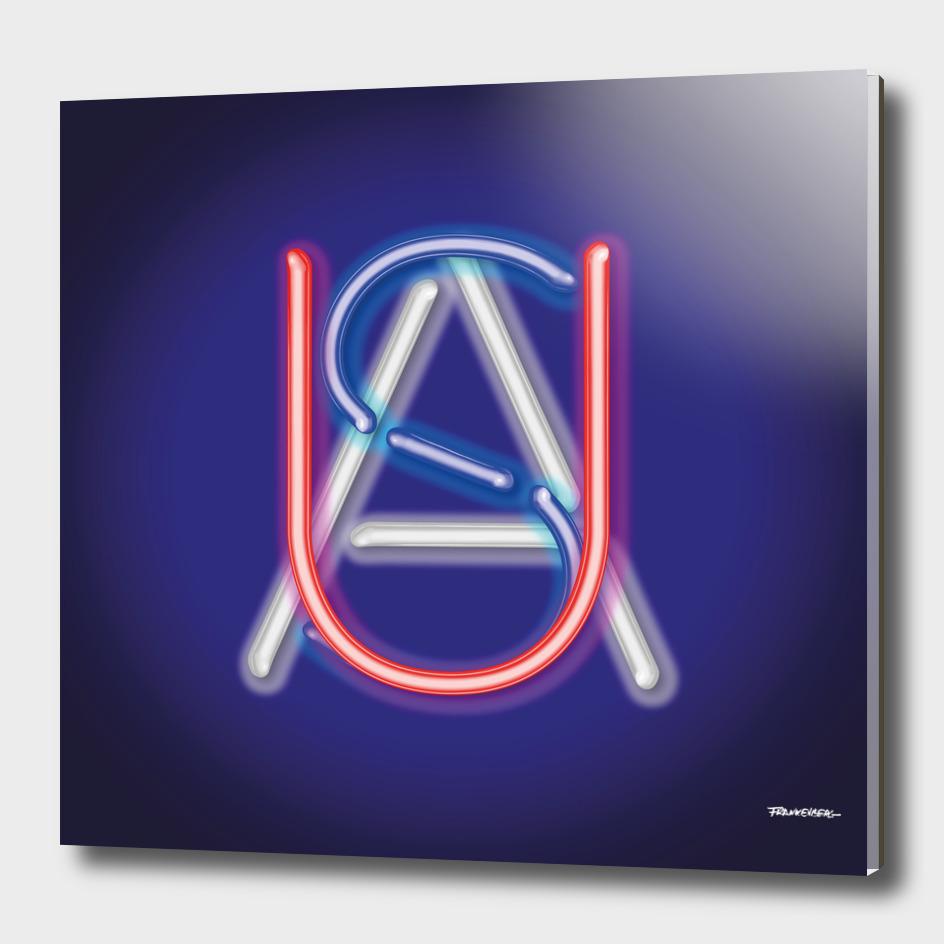 USA - Neon - Blue