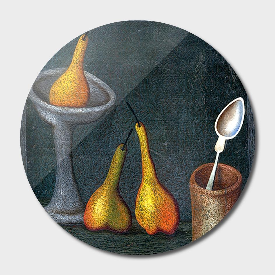 still life of pears