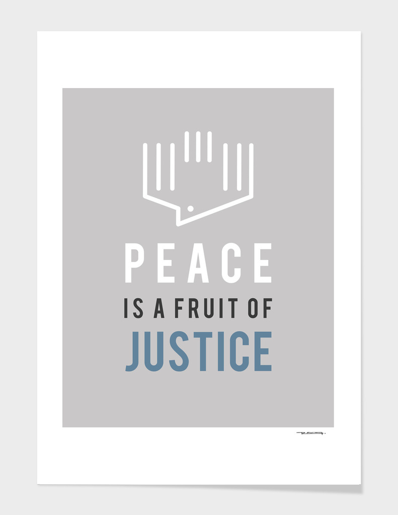 Peace is a fruit of Justice