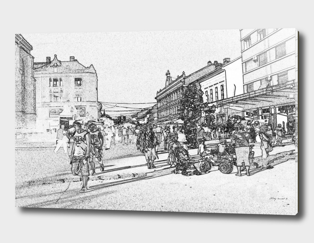 Novi Sad 002-4 digital by Banstolac - Zmaj Jovina street