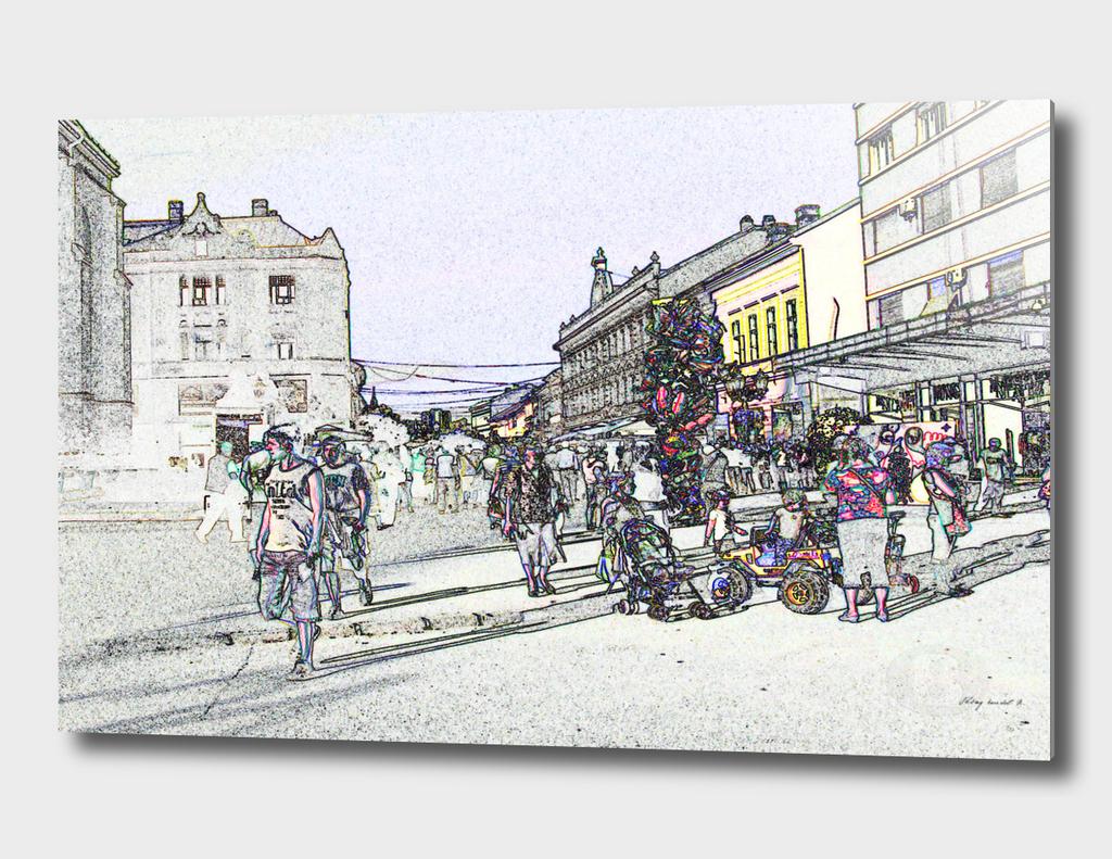 Novi Sad 002-5 digital by Banstolac - Zmaj Jovina street