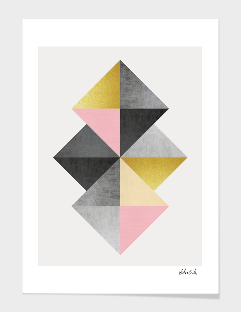 Geometric and golden art I