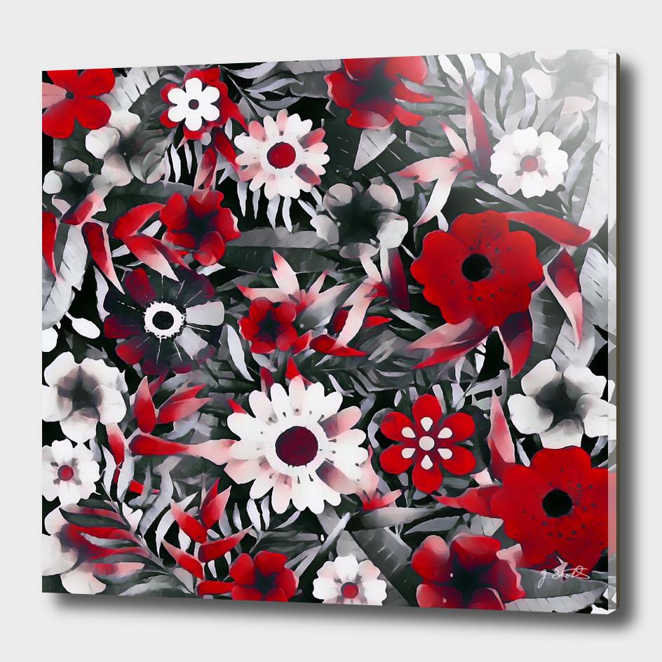 Red Garden, flowers