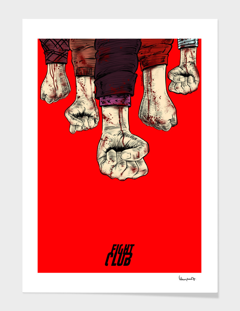 Fight Club blood fist