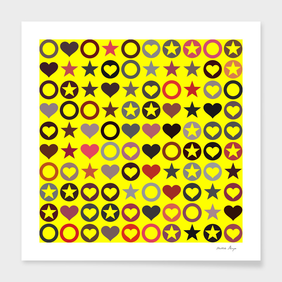 stars hearts pattern