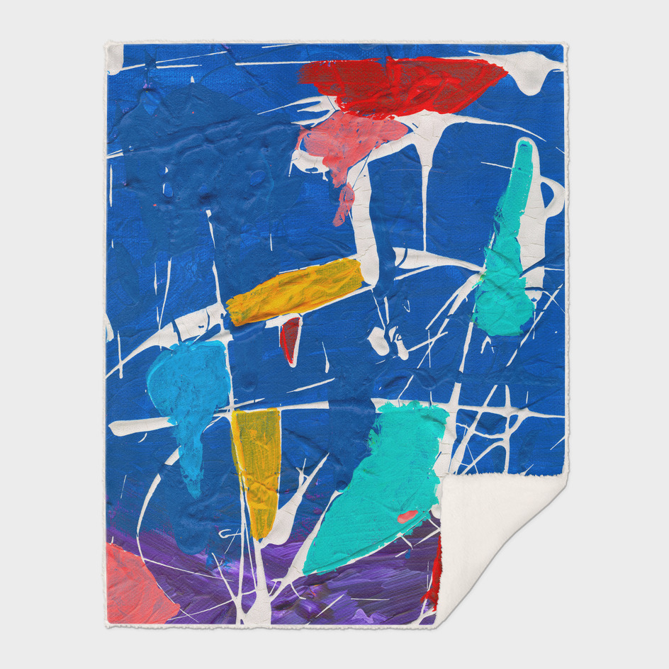 Abstract Blue Expressionsit Art