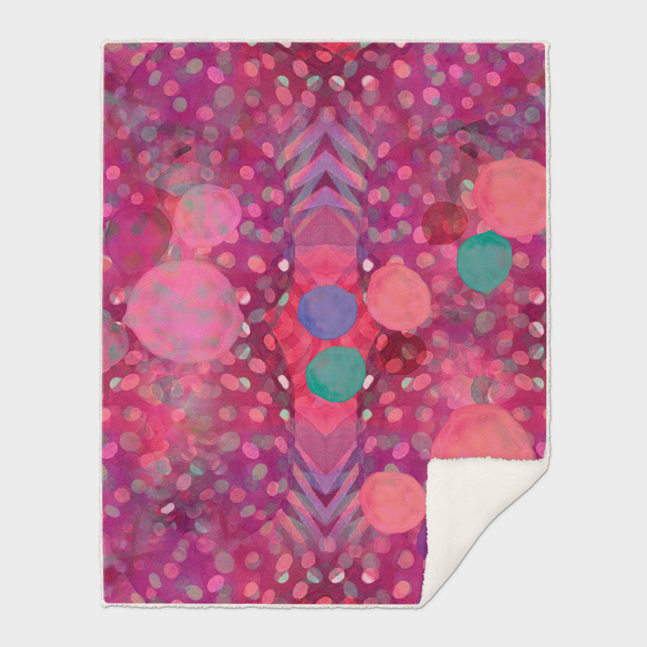 """Abstract polka dots in pink and pastel colors"""