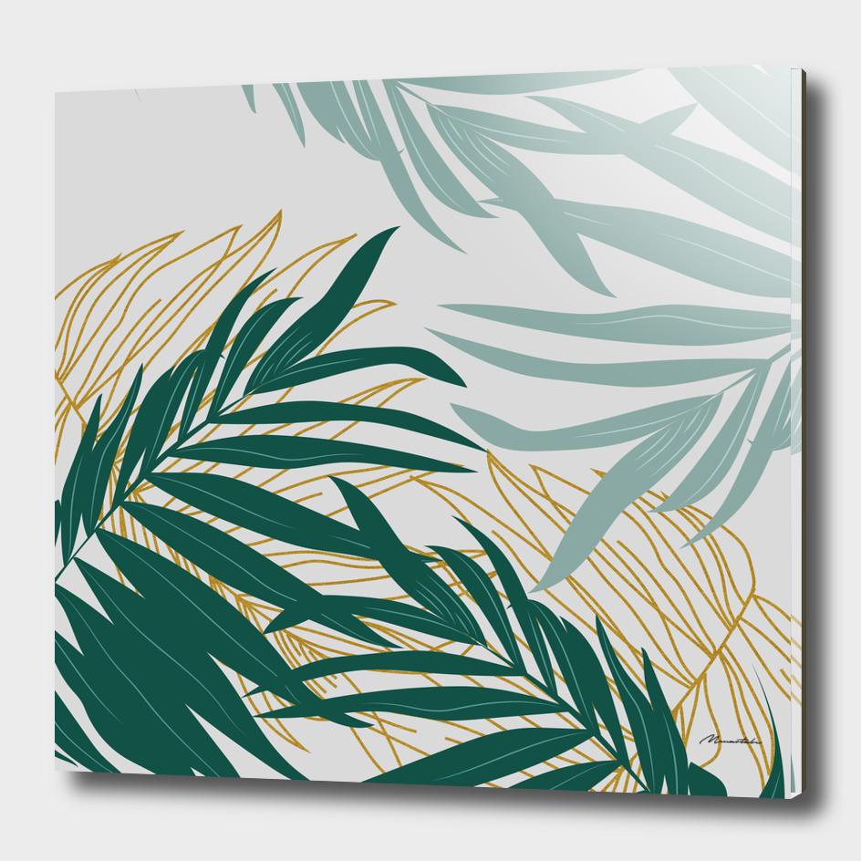 Minimalist leaf illustration II