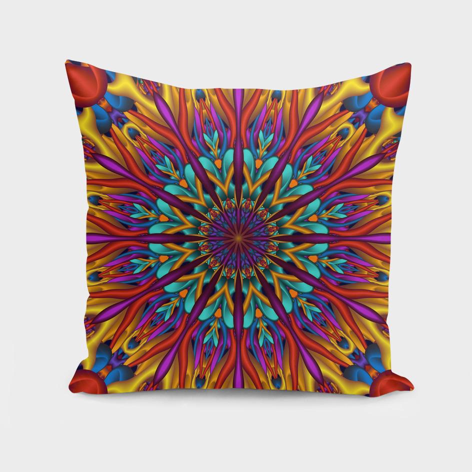 Amazing colors 3D mandala