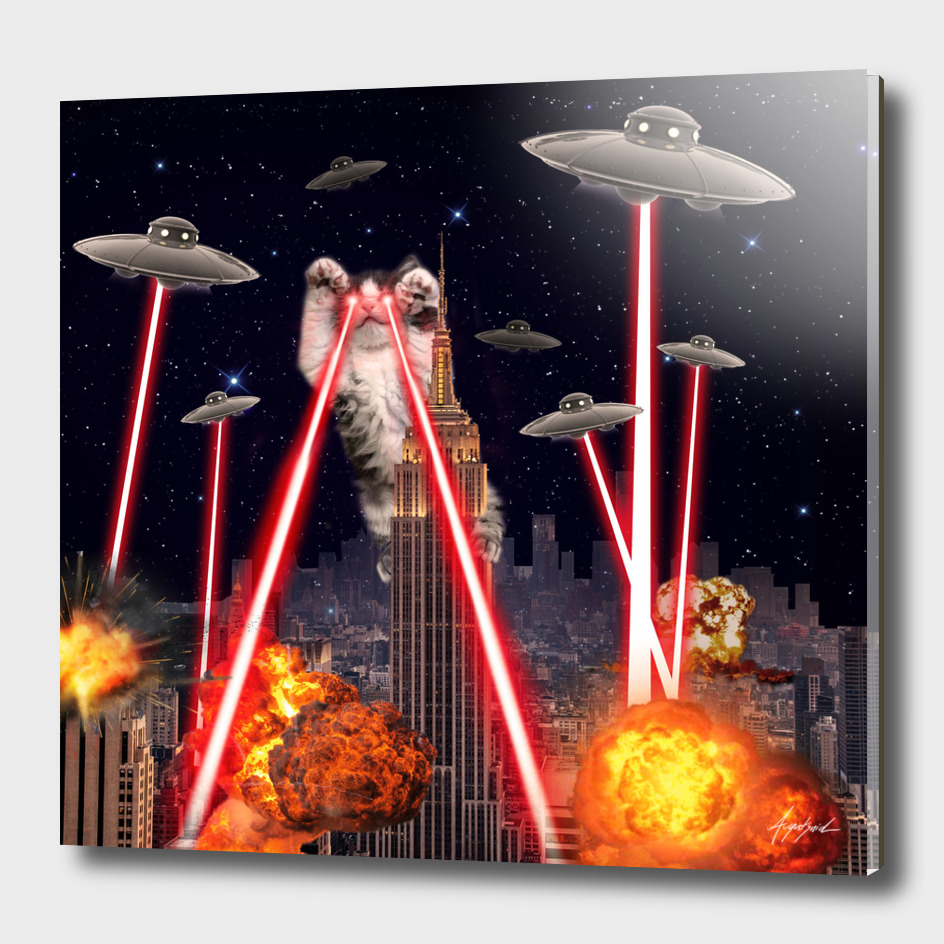 Cat Attack New York City Ufo Explosions Lasers