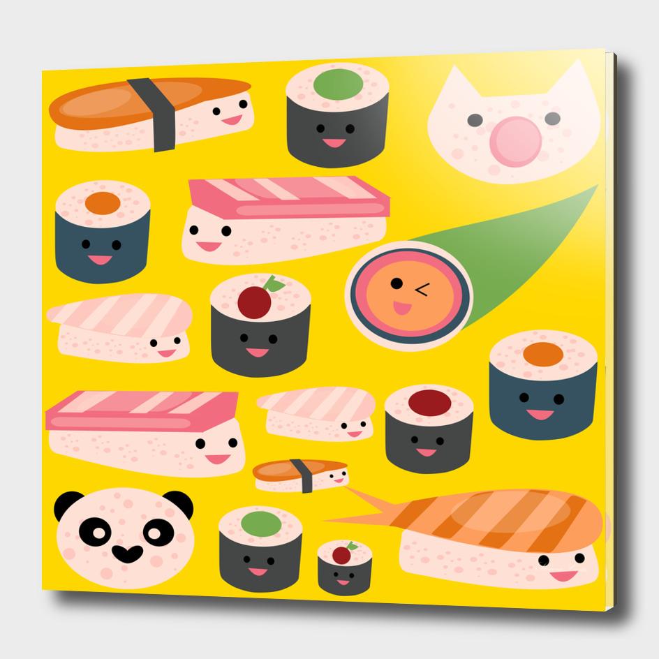 KAWAII sushi yellow