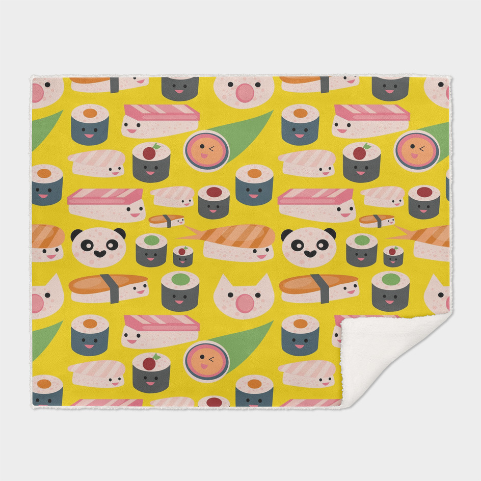KAWAII sushi yellow