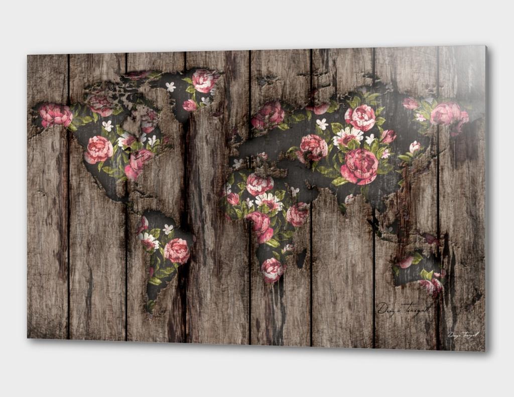 Wood Flowers Mapamundi