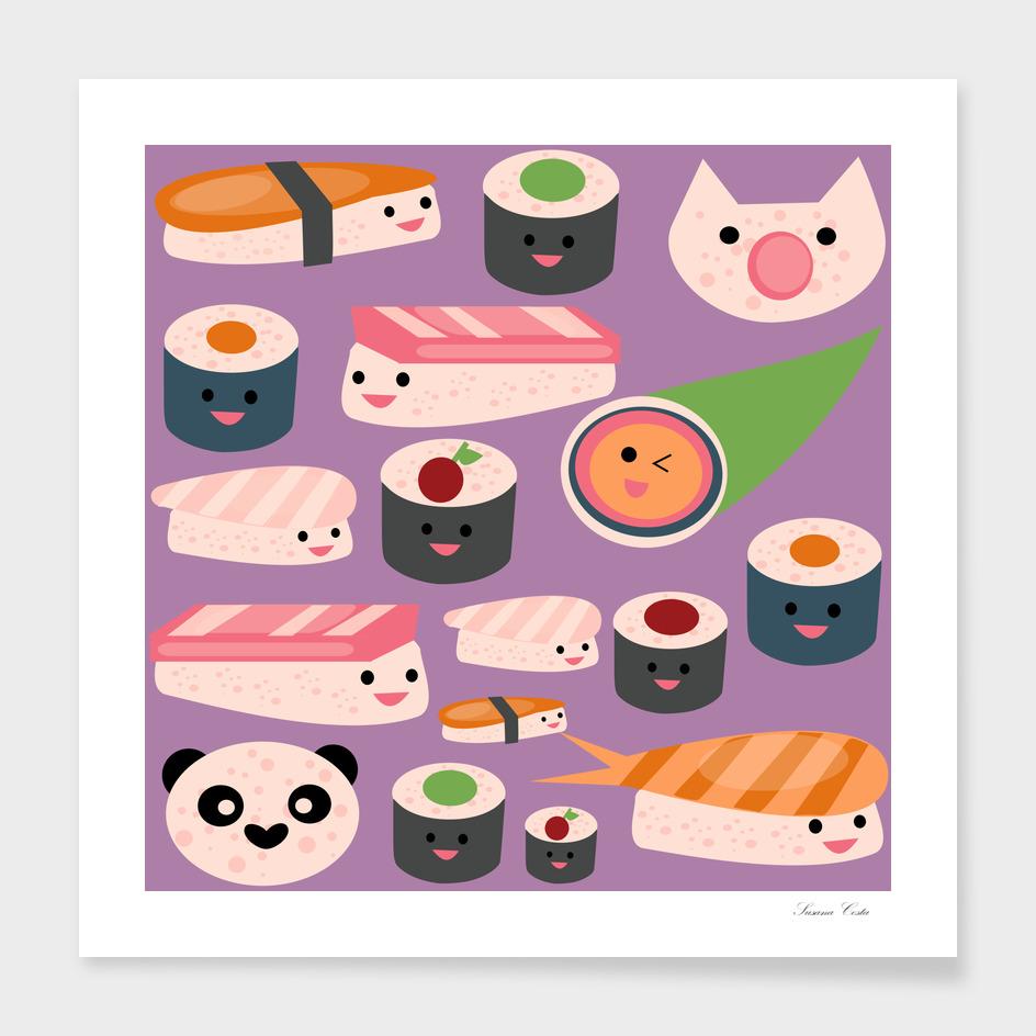 KAWAII sushi purple