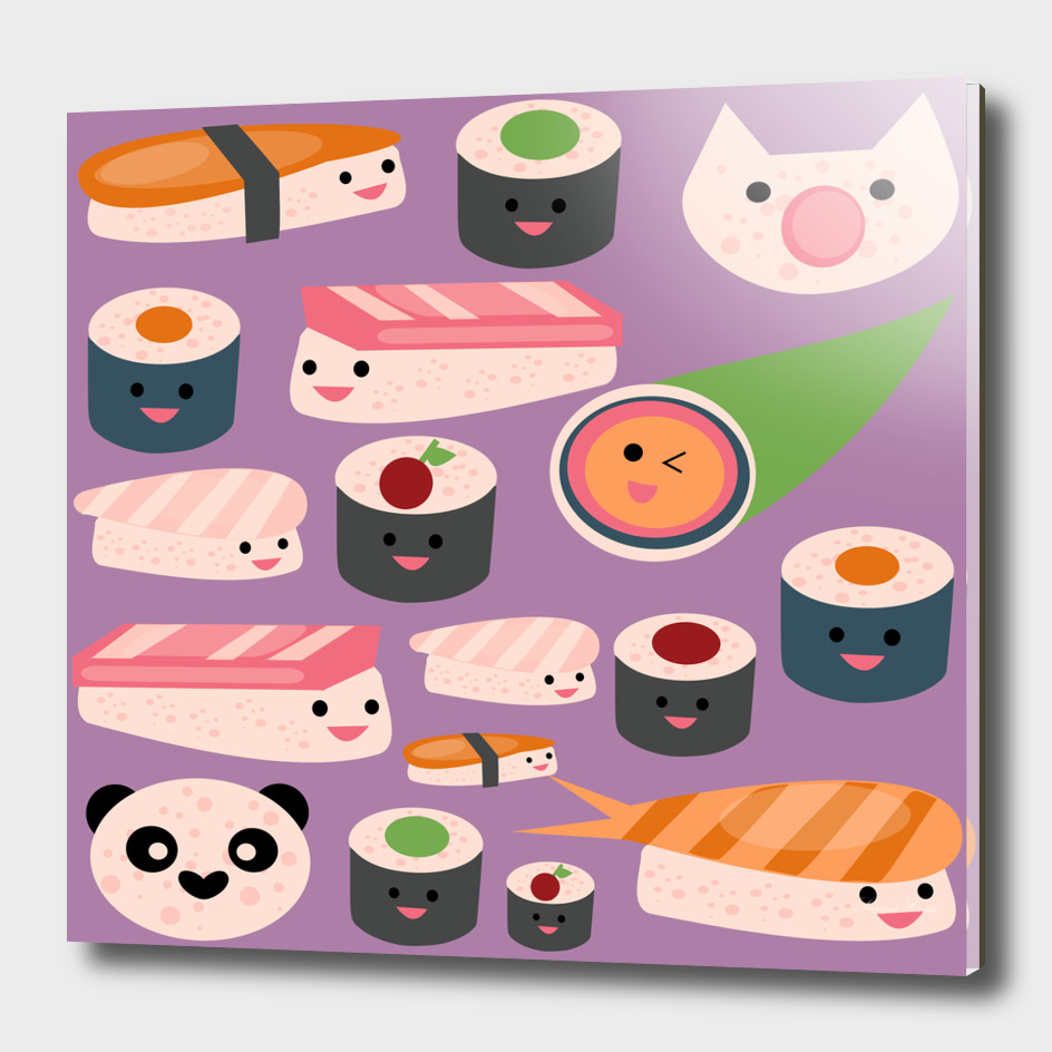 KAWAII sushi purple