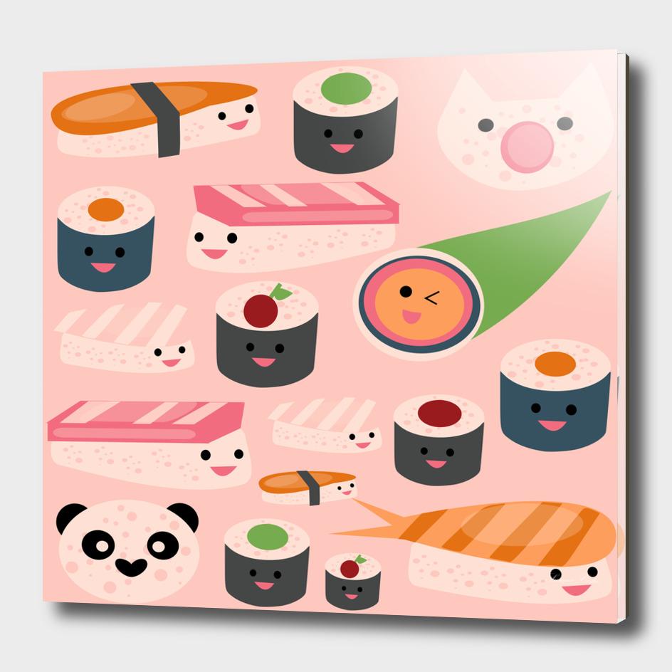 KAWAII sushi  hot pink
