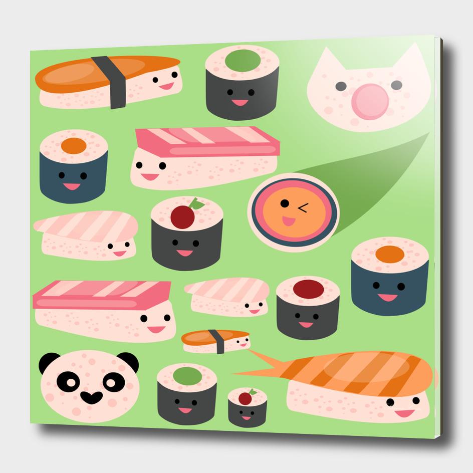 KAWAII sushi green