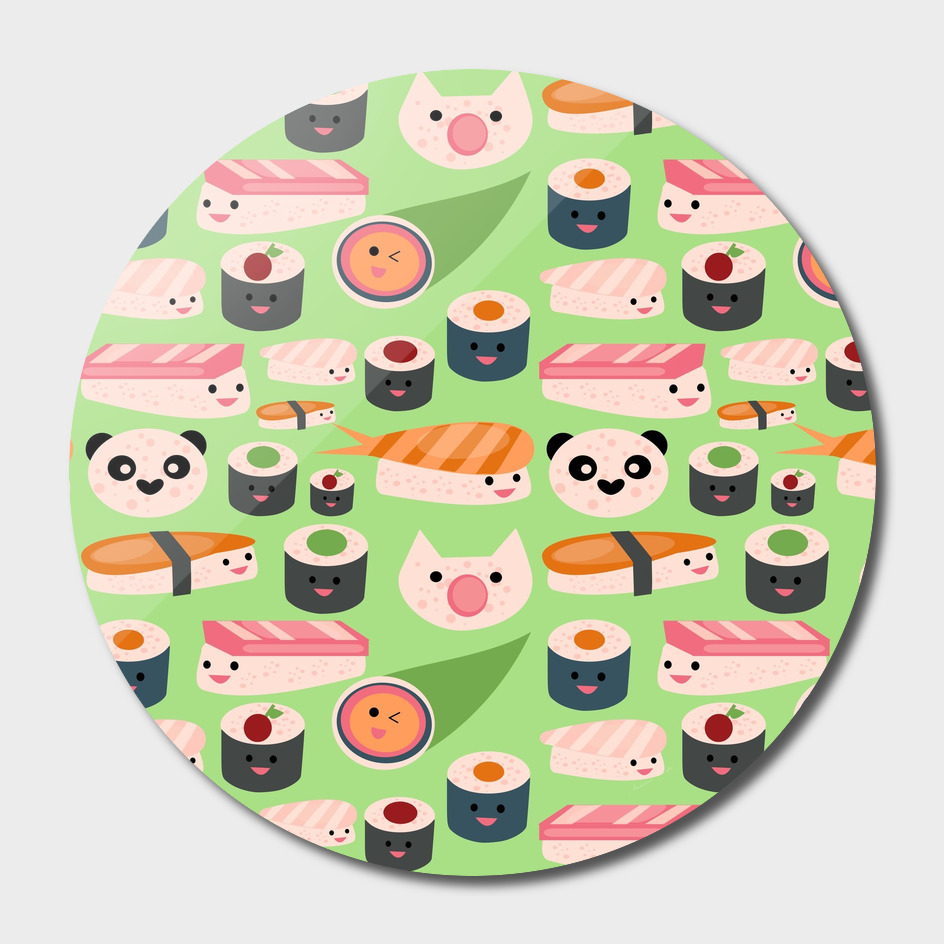KAWAII sushi green