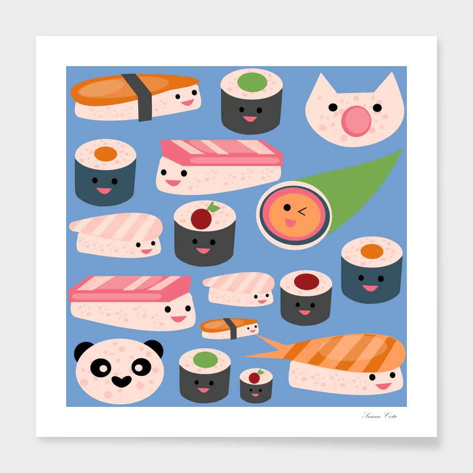 KAWAII sushi blue